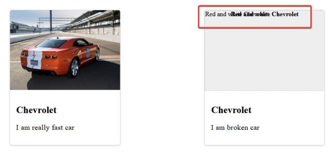 """Два элемента карты, оба с большим изображением, заголовком и описанием. На карточке слева изображен красный Chevrolet Camaro. Карточка справа показывает замещающий текст поверх замещающего текста внутри серой области заполнителя. """"Class ="""" wp-image-352028 jetpack-lazy-image """"data-recalc-dims ="""" 1 """"data-lazy- data- lazy- data-lazy-src = """"https://i0.wp.com/css-tricks.com/wp-content/uploads/2021/09/rLC0kMQ-1024x424-1.jpg?resize=691%2C320&is-pending -load = 1 # 038; ssl = 1 """"/> <noscript> <img loading="""