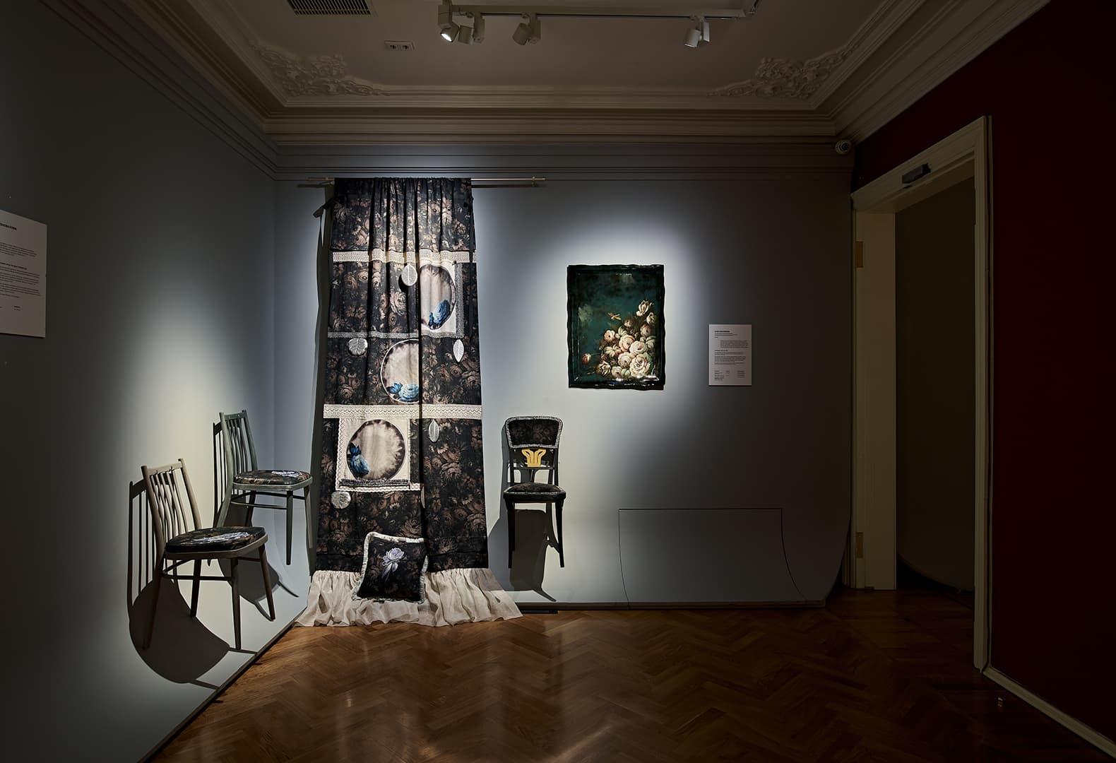 Выставка «Трын*Трава. Современный русский стиль» 2020 в музейно-выставочном центре РОСИЗО, экспозиция дизайнера Юли Герасимовой