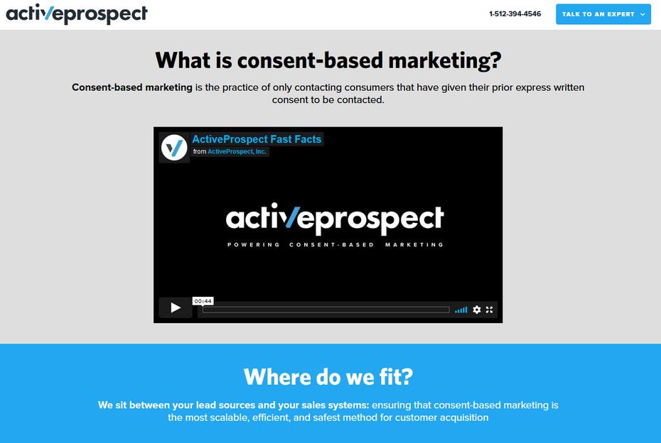 """Используйте простой язык. """"Width ="""" 1278 """"height ="""" 858 """"/>    <figcaption> Используйте простой язык на своем веб-сайте, чтобы лучше понять свой бизнес с помощью Active Prospect. </figcaption></figure> <p> Использование простого языка на веб-сайте малого бизнеса упрощает понимание для множества посетителей. Active Prospect использует простой язык на своем сайте и формы, чтобы оптимизировать и обезопасить привлечение клиентов для своих клиентов. Их веб-сайт четко определяет, что они делают : «Мы помогаем компаниям привлекать клиентов с помощью маркетинга на основе согласия». Следующее предложение органично описывает призыв к действию: «Начните разговор с потенциальным клиентом, который действительно хочет поговорить с вами». Затем дается краткое определение маркетинга на основе согласия, а также предоставляется видео. </p> <p> Чем легче понять язык вашей компании, тем большее влияние он окажет. Он охватит более широкую аудиторию. Это так просто и ясно. </p> <h3><span id="""