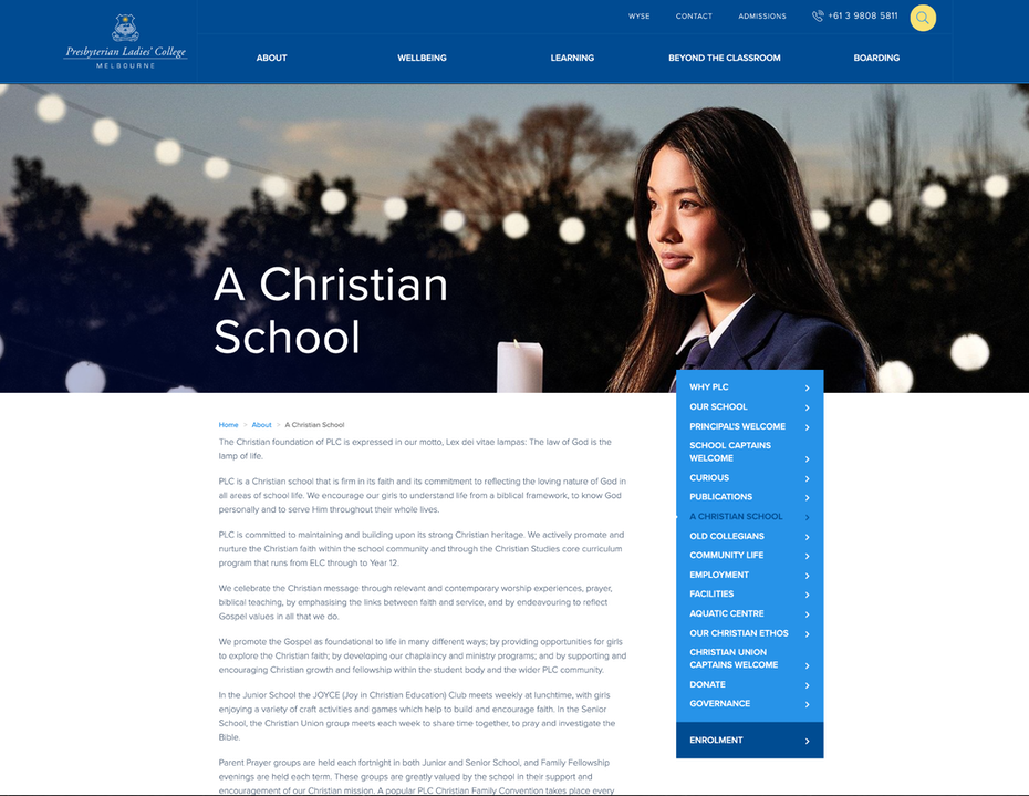 """Школьный веб-сайт, показывающий, что они христиане """"width ="""" 2048 """"height ="""" 1584"""