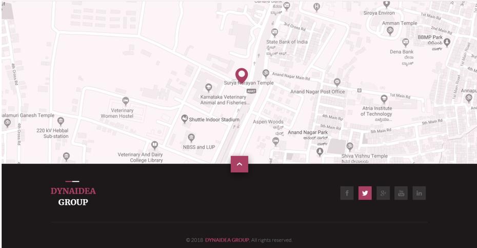 веб-страница с указанием местоположения на карте