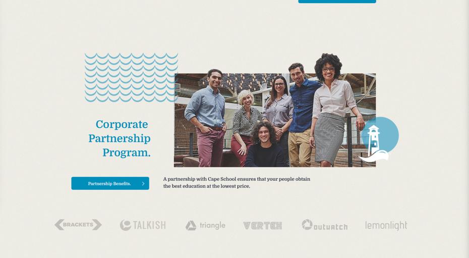 """Страница программы корпоративного партнерства на веб-сайте """"width ="""" 2048 """"height ="""" 1125"""