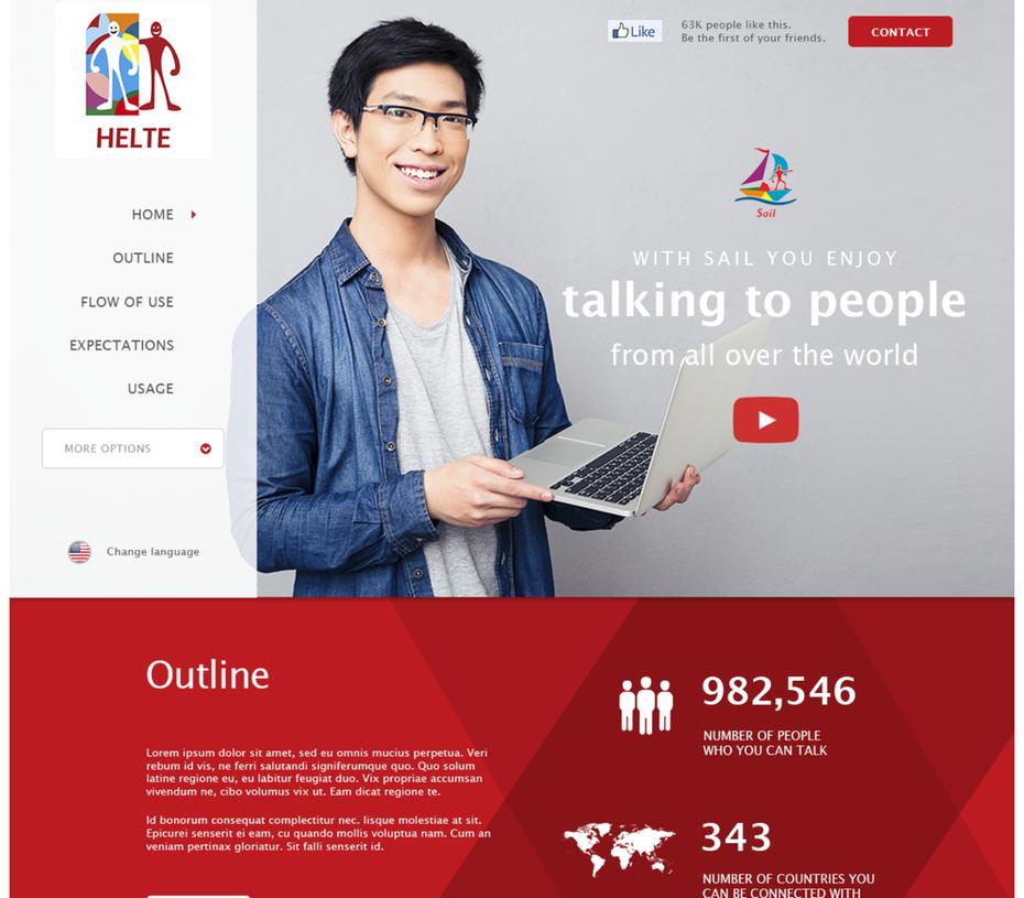 """Целевая страница языковой школы с человеком в руках с ноутбуком """"width ="""" 2048 """"height ="""" 1794"""