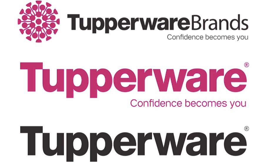 """различные макеты логотипа Tupperware с надписью «Доверие» становятся вашим слоганом «width ="""" 915 """"height ="""" 555"""