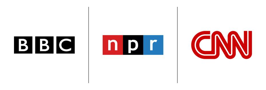 """Логотипы BBC, NPR, CNN """"width ="""" 1900 """"height ="""" 650 """"/>    <figcaption> BBC и NPR не являются монограммами, но CNN можно рассматривать как монограмму, поскольку правая основа первой буквы« N »используется совместно с левый стержень второй буквы «N». </figcaption></figure> <p> LA Dodgers представляют собой наглядный пример монограммы, поскольку полоса буквы «L» образует перекладину буквы «A». Under Armour нарисуйте перекладину буквы «А» с чашей буквы «U». </p> <figure data-id="""