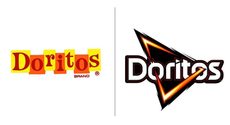 "Логотип Doritos тогда и сейчас ""width ="" 900 ""height ="" 488"