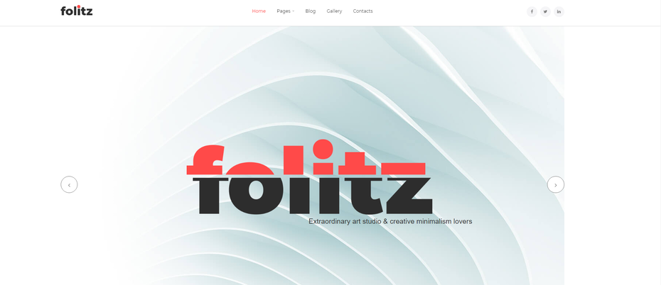 """снимок экрана Folitz """"width ="""" 1806 """"height ="""" 781 """"/>    <figcaption> Via Template Monster </figcaption></figure> <p> Другой шаблон портфолио, Folitz также содержит очень большое изображение героя. Но в отличие от предыдущего шаблона портфолио, Folitz больше похож на традиционный веб-сайт, в котором есть контент под изображением главного героя и он организован в четкие разделы. Это отличный выбор, если вам нужно, чтобы ваш веб-сайт был чем-то большим, чем просто портфолио, например, если вы хотите разместить на своей домашней странице отзывы или краткое описание вашего бизнеса. </p> <h4><span id="""