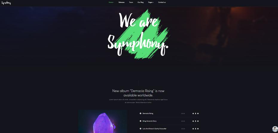 """снимок экрана JA Symphony """"width ="""" 1894 """"height ="""" 909 """"/>    <figcaption> Via JoomlaArt </figcaption></figure> <p> Первое, что вы заметите, это то, что этот шаблон издает это энергичное ощущение ночного клуба. Вот что делает его идеальным для веб-сайтов, созданных для рекламы музыкальных событий, таких как концерты, выпуск альбомов и мероприятия в клубах. С JA Symphony вы можете <em> показать </em>что популярно, а не рассказывать это через встроенные видео и музыкальные страницы, которые ссылаются на Spotify, Apple Music и Amazon Music. </p> <h4><span id="""